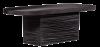Tafel oval schwarz bespannt